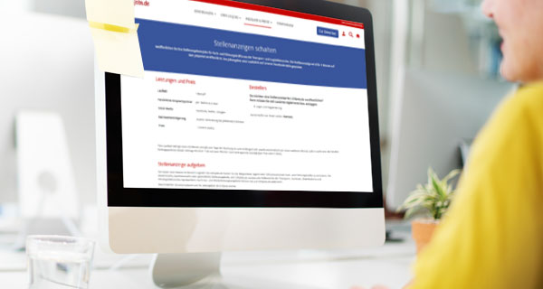 Monitor mit LOGjobs.de